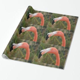 Papel De Presente Papel de envolvimento do flamingo