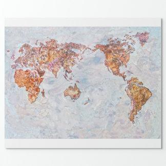 Papel De Presente papel de envolvimento do mapa