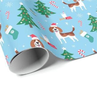 Papel De Presente Papel de envolvimento do Natal do lebreiro