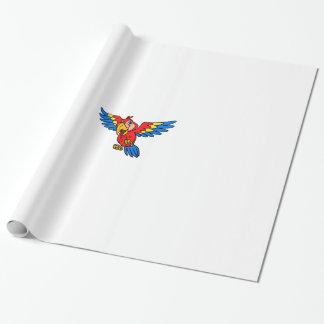 Papel De Presente Papel de envolvimento do papagaio