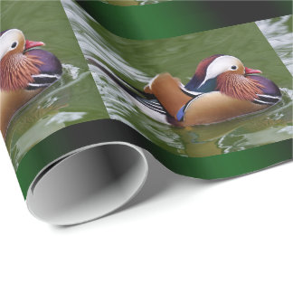 Papel De Presente Papel de envolvimento do pato de mandarino