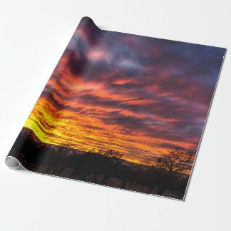 Papel De Presente Papel de envolvimento do por do sol