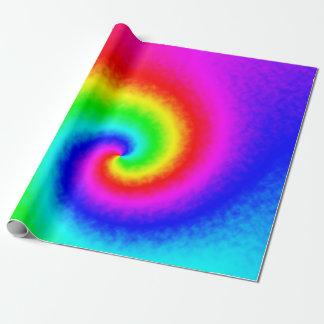 Papel De Presente Papel de envolvimento do redemoinho do arco-íris