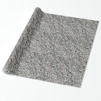 Papel De Presente Papel de envolvimento do seixo da rocha
