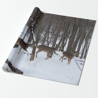 """Papel De Presente Papel de envolvimento dos cervos, 30"""" x 6'"""
