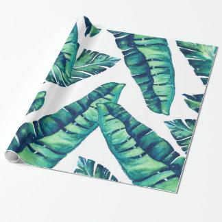 Papel De Presente Papel de envolvimento Glam tropical 30x6