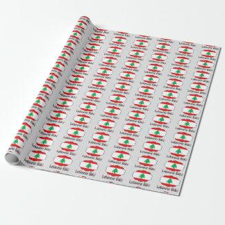 Papel De Presente Papel de envolvimento libanês do bebê da bandeira