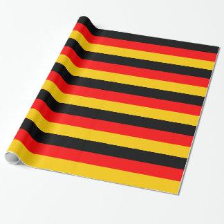 Papel De Presente Papel de envolvimento listrado Flagge alemão de
