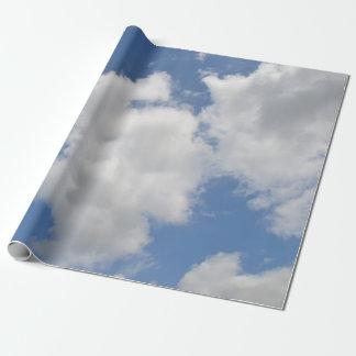 Papel De Presente Papel de envolvimento lunático da nuvem
