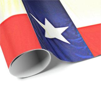 Papel De Presente Papel de envolvimento lustroso - bandeira de Texas