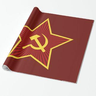 Papel De Presente Papel de envolvimento lustroso vermelho do martelo