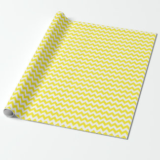 Papel De Presente Papel de envolvimento médio amarelo e branco de