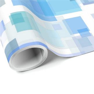 Papel De Presente Papel de envolvimento - quatro lados dos azuis