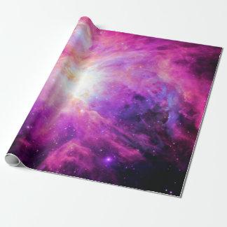 Papel De Presente Papel de envolvimento roxo da galáxia do rosa da