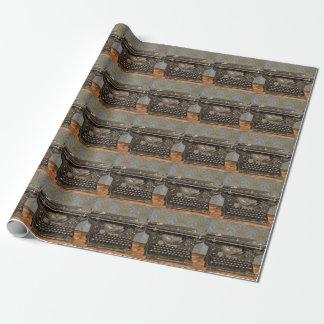 Papel De Presente Papel de envolvimento velho da máquina de escrever