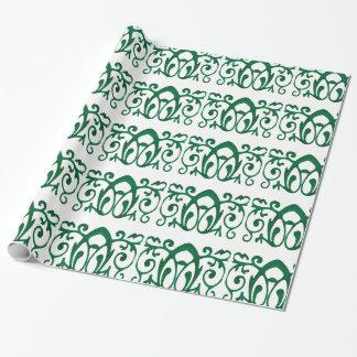 "Papel De Presente Papel de envolvimento verde do Batik de Fleur, 30"""