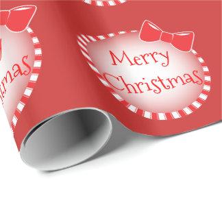 Papel De Presente Papel de envolvimento vermelho do Feliz Natal | do
