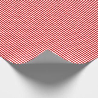 Papel De Presente Papel de envolvimento vermelho e branco fino das