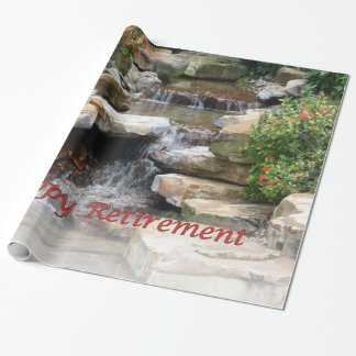 Papel De Presente Papel do envoltório da cascata da cachoeira do