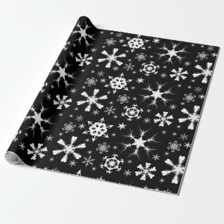 Papel De Presente Papel do Natal do floco de neve