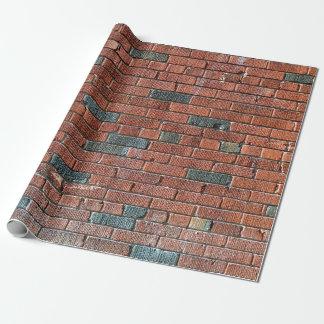 Papel De Presente Parede de tijolo avermelhada/acastanhada velha