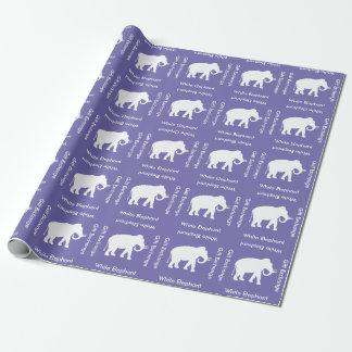 Papel De Presente Partido da troca do presente do elefante branco