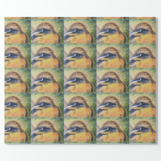 Papel De Presente Pássaro amarelo e preto feroz