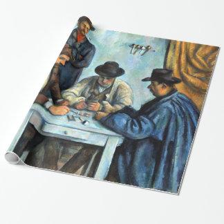 Papel De Presente Paul Cezanne os jogadores de cartão
