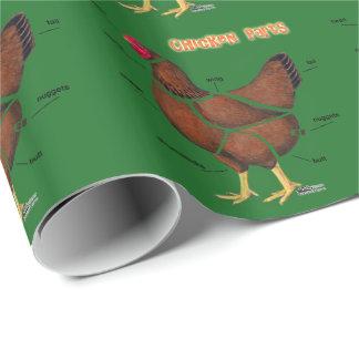 Papel De Presente Peças da galinha