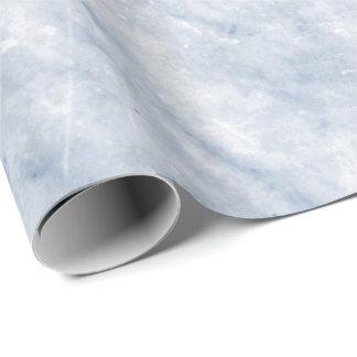Papel De Presente Pedra de mármore cinzenta branca celestial azul de