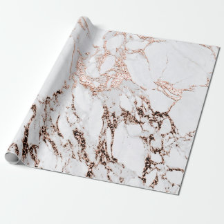 Papel De Presente Pedra de mármore cinzenta de Carrara do metal