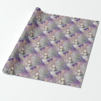 Papel De Presente Pétalas violetas - coleção
