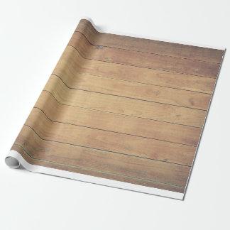 Papel De Presente Pinho pálido do design da vertente da madeira do