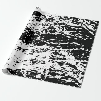 Papel De Presente Pintura afligida preto e branco afligida