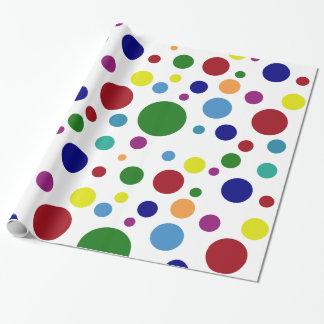 Papel De Presente Pontos coloridos festivos em cores diferentes no