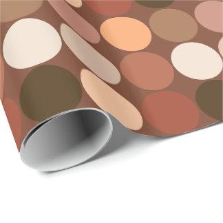 Papel De Presente Pontos gigantes do meio século, castanho chocolate
