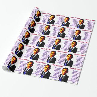 Papel De Presente Porque o que lhe faz um homem - Barack Obama