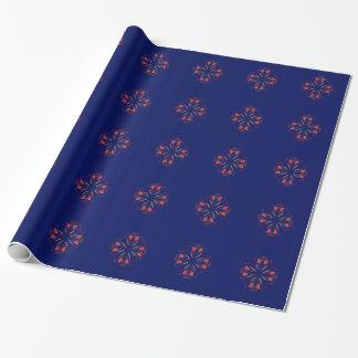 Papel De Presente POVOS do azul dos elementos do design