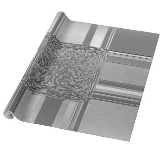Papel De Presente prata 03 da arte do metal