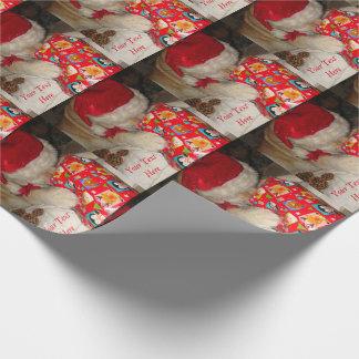 Papel De Presente Presente bonito do Natal da abertura do chapéu do