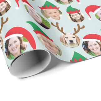 Papel De Presente Presente de época natalícia engraçado da foto do