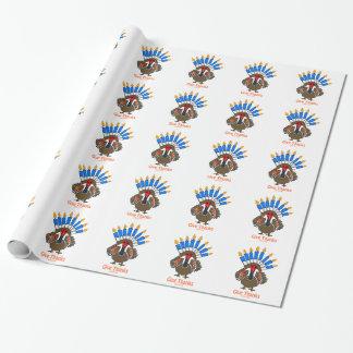 Papel De Presente Presente do menorah do peru de Thanksanukkah