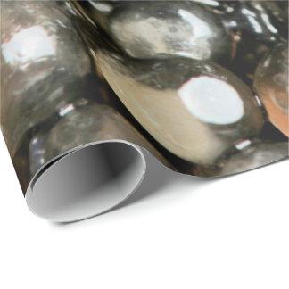 Papel De Presente Preto do caviar, pérolas cinzentas VIP abstrato