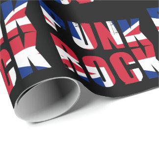 Papel De Presente Punk rock BRITÂNICO da bandeira