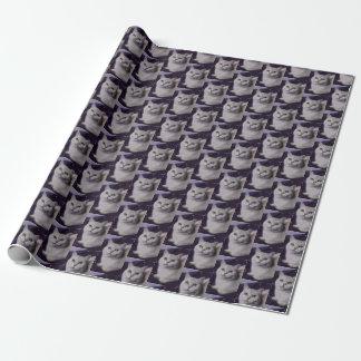 Papel De Presente Purple XMAS Cats