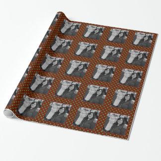 Papel De Presente Quadro quadrado da foto das bolinhas do feriado