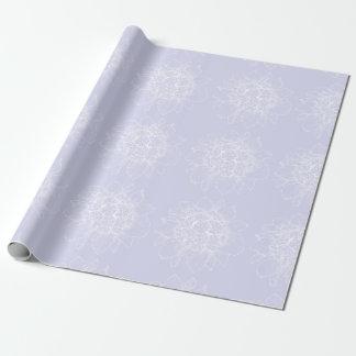 Papel De Presente Quartzo & papel de envolvimento floral branco das