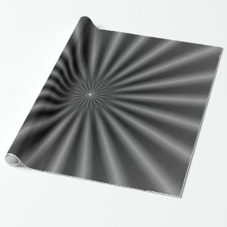 Papel De Presente Raios em preto e branco