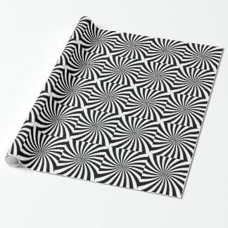 Papel De Presente Redemoinho preto e branco movente da ilusão óptica