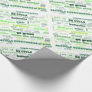 Papel De Presente Reduza, reúso, recicl a nuvem da palavra